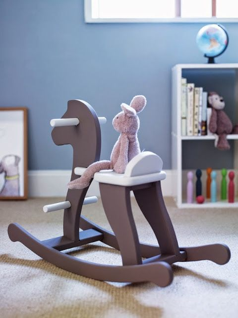 simply vintageous...by Suzan: Wooden Rocking Horses...............