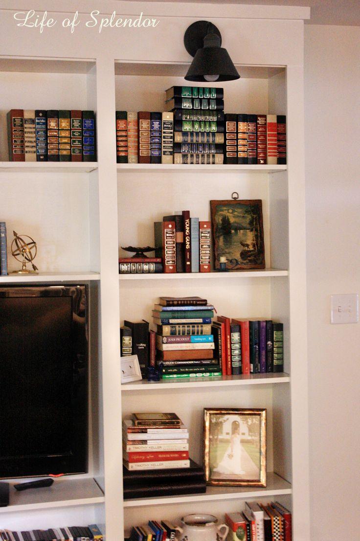 Bookshelf Styling 42 best Bookshelf styling images
