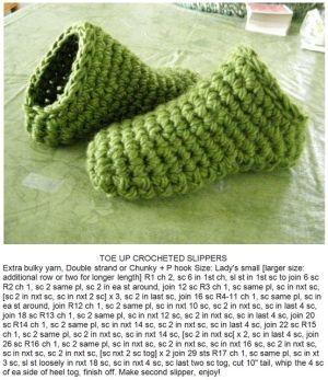 Crochet Slippers / Toe up crocheted slippers ✿Teresa Restegui http://www.pinterest.com/teretegui/✿