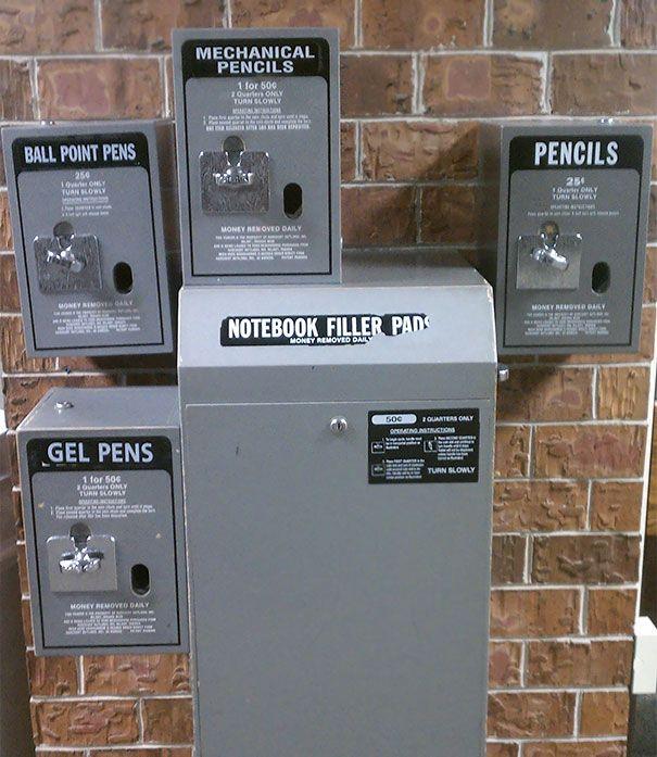 My Son's School Has A Vending Machine For School Supplies