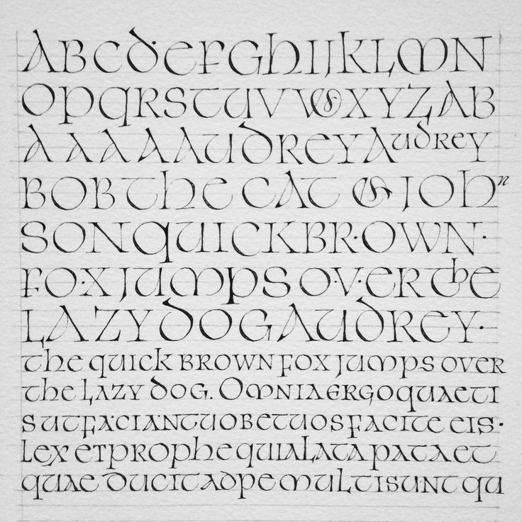 Best uncial lettering images on pinterest hand type