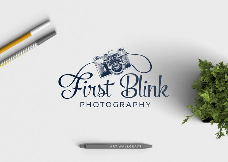 Retro Photography Logo, Premade Photography Logo , Vintage Camera by artWallgrays on Etsy