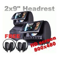 "Headrest 2 X 9"" HD Car Monitor Pillow 2 DVD Player GAME - http://www.elinz.com.au/buy/headrest-2-x-9-hd-car-monitor-pillow-2-dvd-player-game/HD905WPCL"