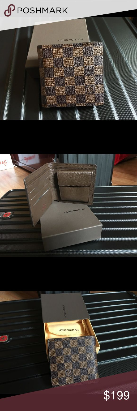 Louis Vuitton men's wallet Gift from girlfriend didn't like it as much only used a couple times. Very new condition comes with box. Louis Vuitton Bags Wallets