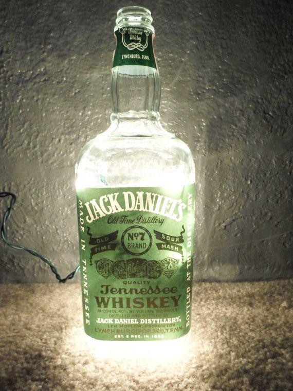 RARE Jack Daniels Green Label Bottle Jack by SchulersGlassDecor, $75.00