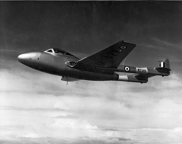 September 20, 1943: First flight of the de Havilland Vampire prototype LZ548