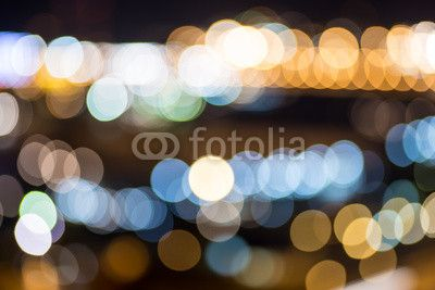 Colorful blurred city lights background.