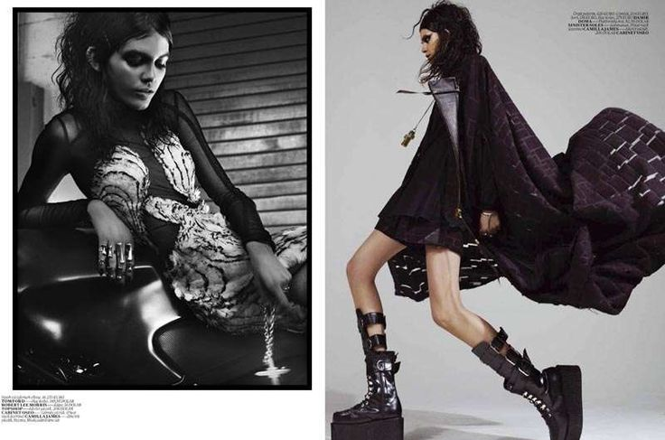 Grungy Princess Fashion : Vogue Turkey 'Siyah Kugu'