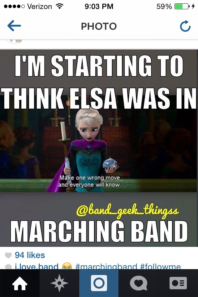 This is what I was saying. Elsa is the band and Anna is the color guard! :)