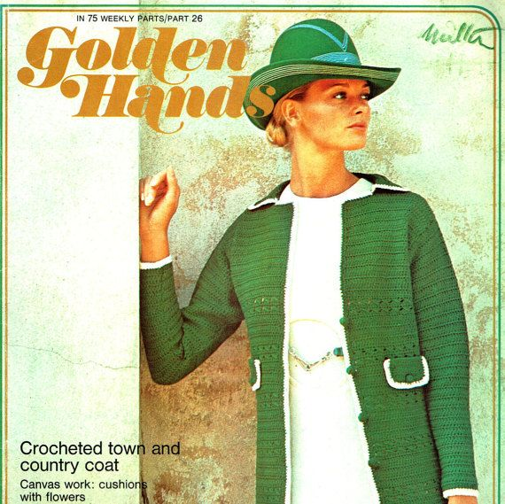 Vintage 1970s Golden Hands 26 Craft Magazine, Sew, Knit, Crochet, Bargello, Tatting, Macrame, Rug Making, Canvas Work, Embroidery & more...