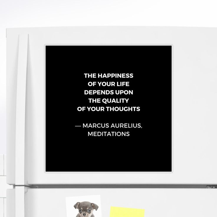 Stoic Wisdom Quotes – Marcus Aurelius Meditations – Happiness | Sticker