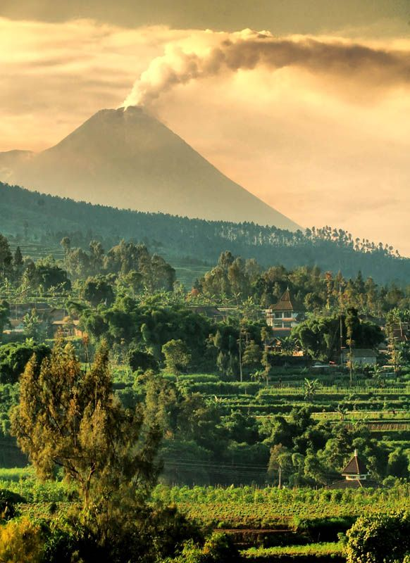 Merapi view from Salatiga, Indonesia  slope  of Merapi by Muchamad Noor Eva A