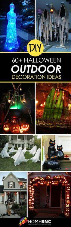 64 Best DIY Halloween Outdoor Decorations for 2018 👻 in 2018 - best decorated houses for halloween