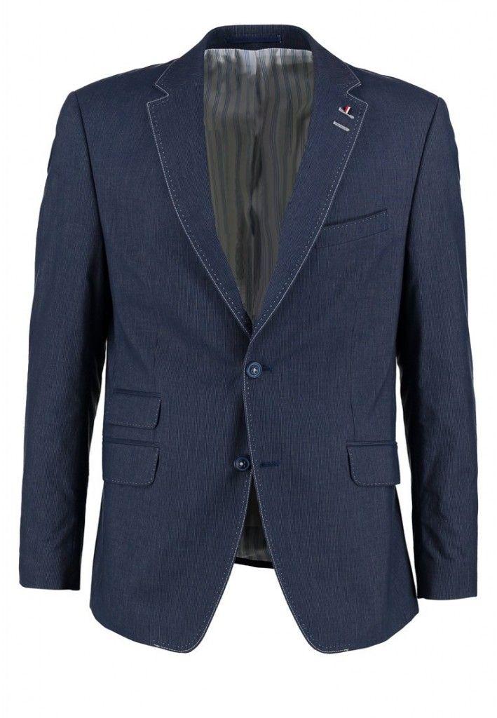 Klassisk navy blå blazer fra Pierre Cardin med fede detaljer.