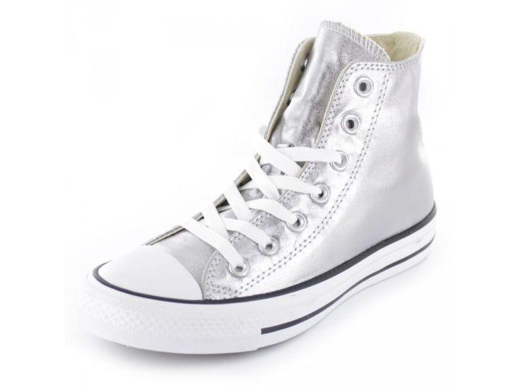 Converse All Star CTAS Hi Chuck - Damen Sneaker in silber