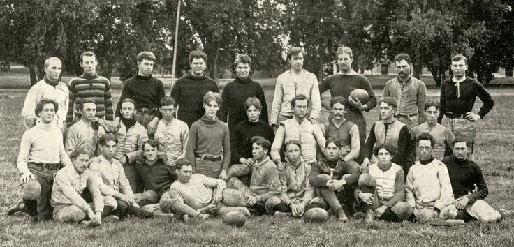 "The 1896 Iowa State football team was dominant on the gridiron. After they beat the heavily-favored Missouri Tigers 12-0 in Columbia, the Kansas City Star was so upset by the game they printed that the Cyclones team was ""made up of professional athletes."" Were they really? Douglas Biggs will explore this topic at ""The Football Controversy at Iowa State College, 1894-1897,"" at 7 p.m. on Tuesday, March 28, at Ames Public Library. For more historical information visit www.AmesHistory.org. Photo…"
