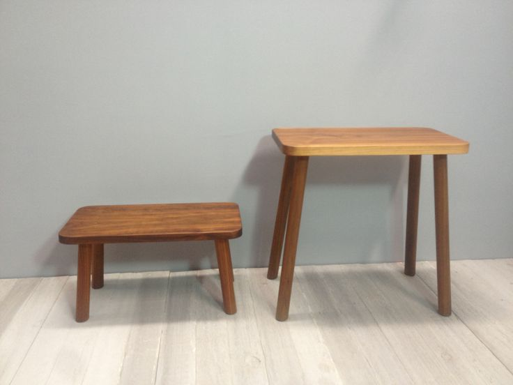 rectangular stools in american walnut,also available in american walnut.handmade by chris colwell design