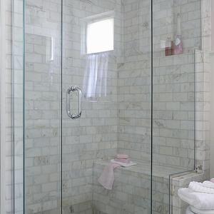 Pebble Shower Floor, Transitional, bathroom, Anna Forkum