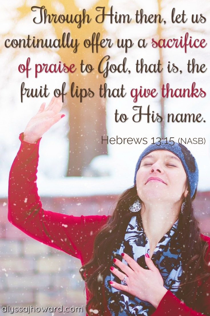 """Isaiah 61:3 reminds us that God gives us a garment of praise in exchange for our """"faint spirit."""" But what does praise have to do with finding strength? #BibleVerse #praise #thanksgiving"""