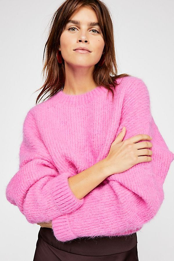 d0ef432414 City Stroll Pullover - Bright Bubblegum Pink Long Sleeve Crew Neck Sweater