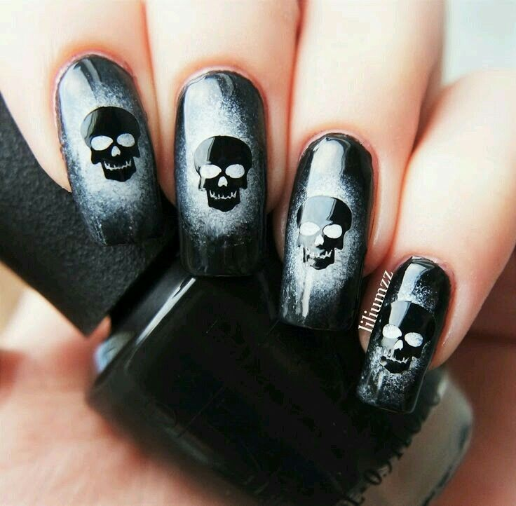 Pick your favorite nail art design and impress your friends this coming  Halloween! - Best 25+ Skull Nail Art Ideas On Pinterest Skull Nails, DIY
