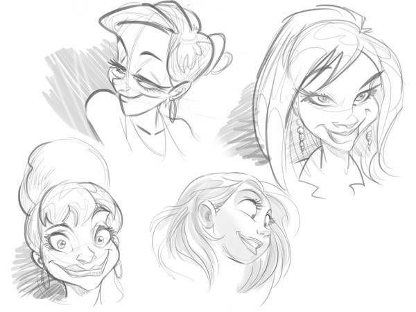 aprender a dibujar rostros de dibujos animados