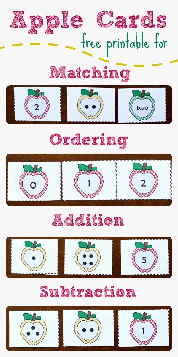 Free Printable Apple Number Cards and Activities from Fantastic Fun and Learning