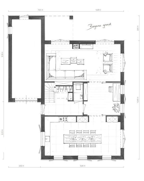 Indeling Keuken Woonkamer : Indeling maar dan keuken waar nu woonkamer is. Garage betrekken bij