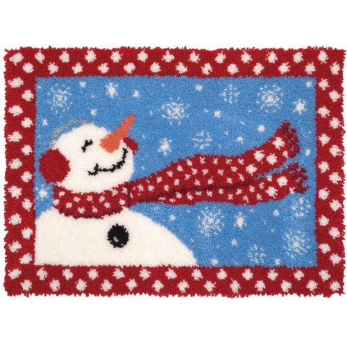 Wish Upon A Snowflake Latch Hook Rug Kit