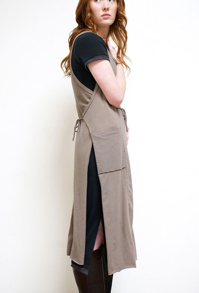 Alabama chanin womens apron smock dress 3