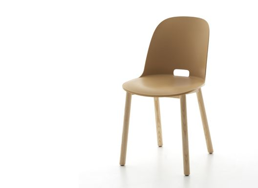 Alfi 2015 Moulded wood-fill plastic shell with reclaimed ash legs. Produced by Emeco, USA.