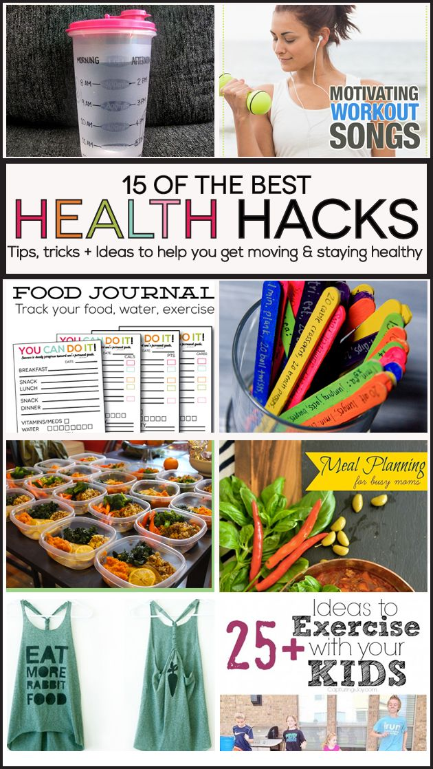 15 of the best Health Hacks - tips, tricks and ideas to help you get moving and staying healthy.