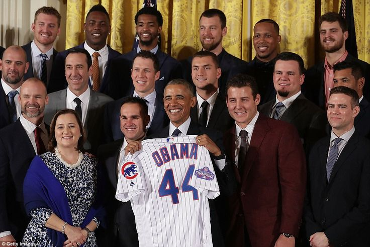 In January, the Cubs visited President Barack Obama at the White House after winning the World Series and shortly before his term ended
