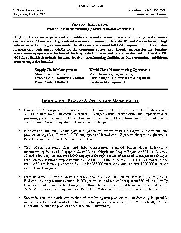 good resume samples for managers best sample operations manager - operations management resume