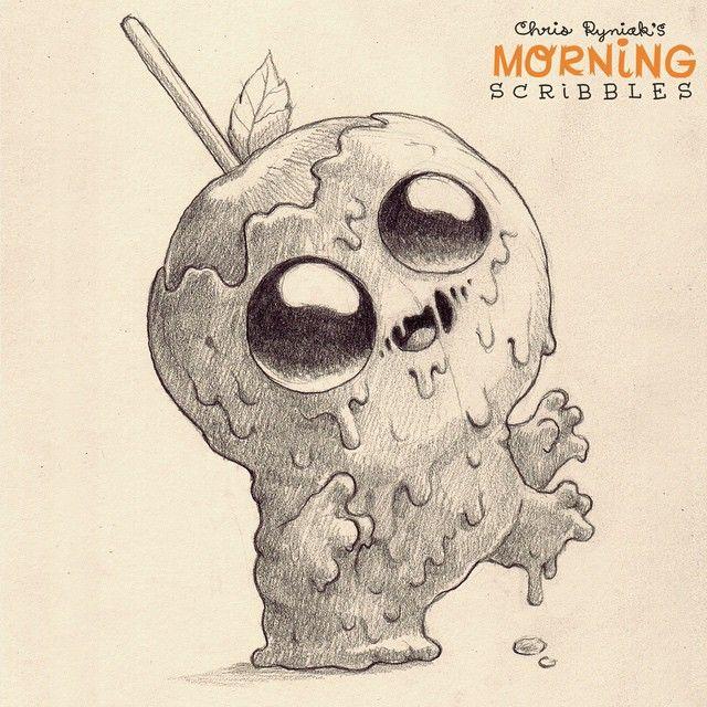 Caramelllllll oooOooOoooooOoooo....#morningscribbles #countdowntohalloween
