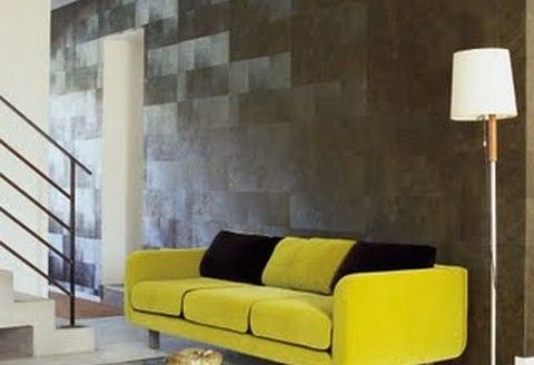 Elitis | behang #Yellow #color #Inspiration #kokwooncenter #201605