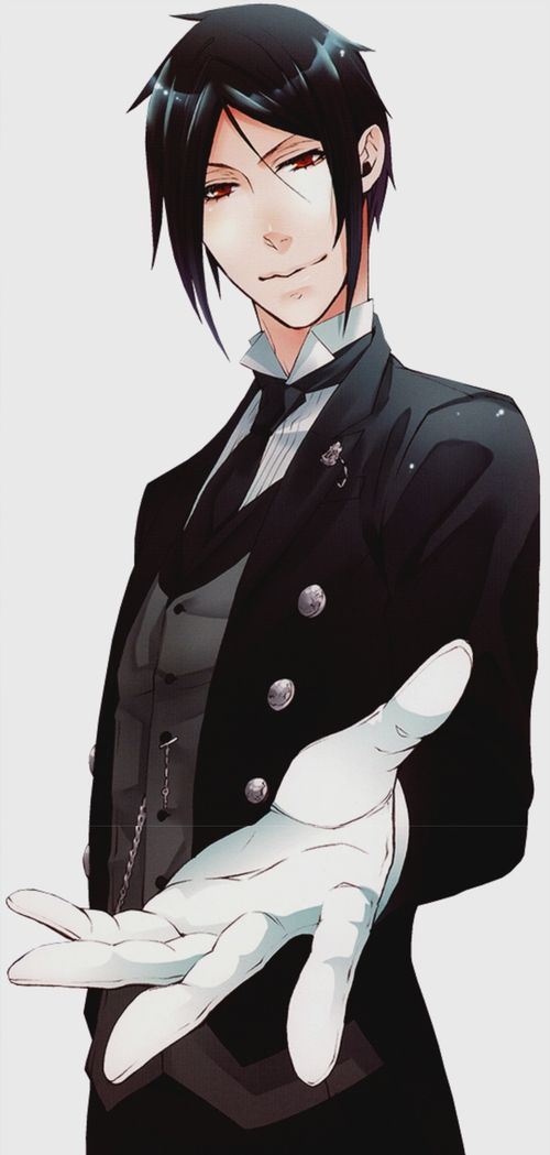 Good evening, I am Sebastian Michaelis. My current master is Lord Phantomhive, so if you have any concerns with him, come to me. All in all, I am simply one hell of a butler *wink* (If you ever want to be him though I won't be bothered sharing is caring)