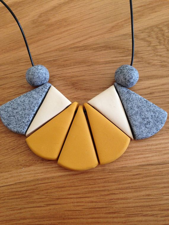 "Polymer clay necklace, "" Mosaic"" on Etsy, $35.00 AUD"