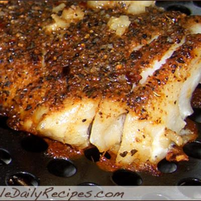 Blackened Grilled Tilapia - no instructions - Bake, Grill, or Pan Fry