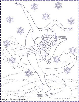 Nicole's Free Coloring Pages: ICE SKATING * ICE PRINCESS * Coloring pages