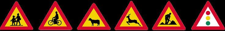 σηματα κοκ - Όλα τα σήματα του ΚΟΚ - πινακίδες αναγγελίας κινδύνου 4