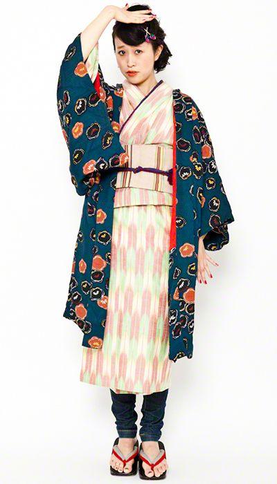 contemporary kitsuke. & a very nice haori.