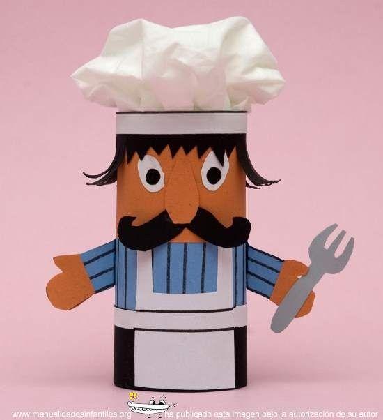 17 mejores ideas sobre rollos de papel higi nico en for Material para chef