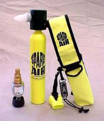 Spare Air Package Scuba Regulator is designed to get you to the surface in the event of an emergency.