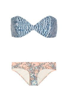 Zimmermann Porcelain printed bandeau bikini   NET-A-PORTER