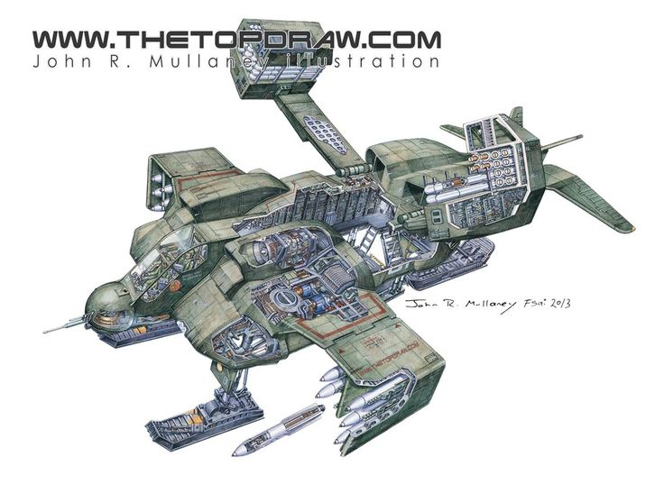 Aliens Dropship CROSS-SECTION