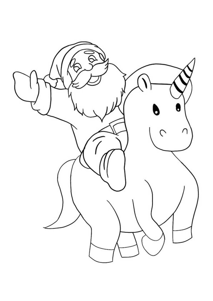 Christmas Unicorn Coloring Pages   Unicorn coloring pages ...