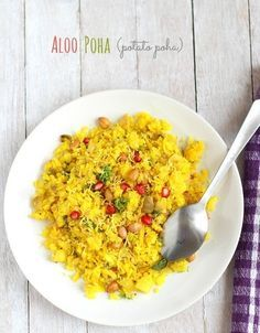 Gujarati aloo poha recipe or batata poha recipe for breakfast. Easy Gujarati aloo potato or batata paova recipe with step by step pictures. Simple aloo poha recipe.