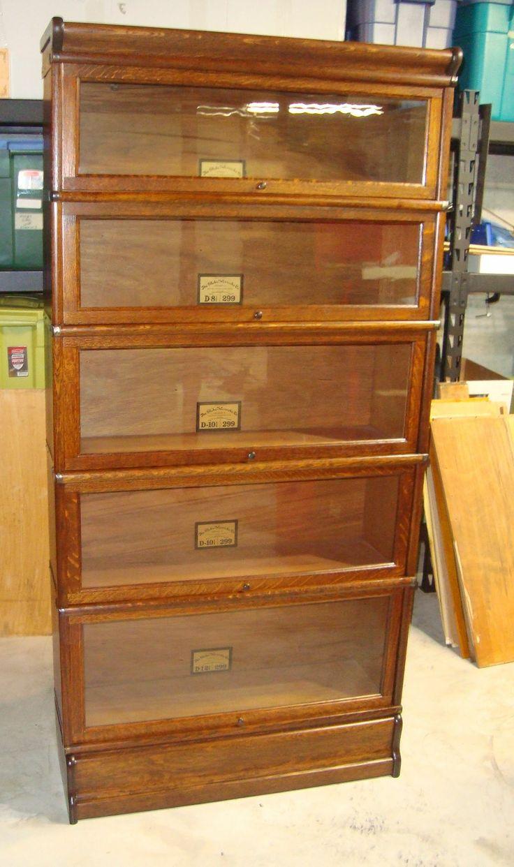 Globe Wernicke Oak Five Stack Bookcase Globe Wernicke