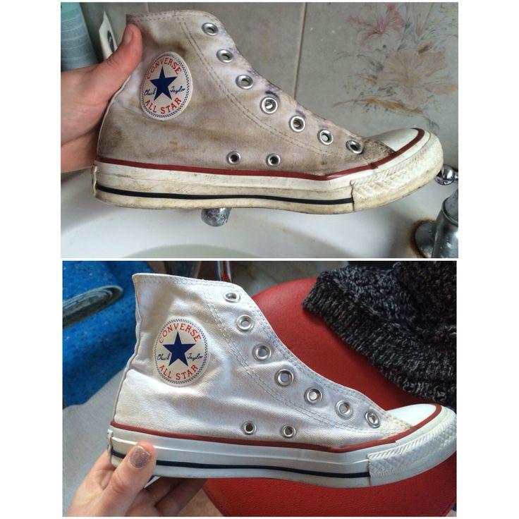 clean white converse